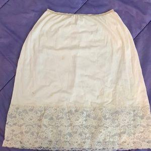 Other - Vintage slip skirt large white